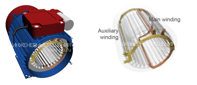 Induction motor windings