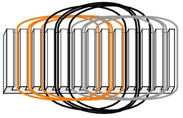 Distributed winding circuit